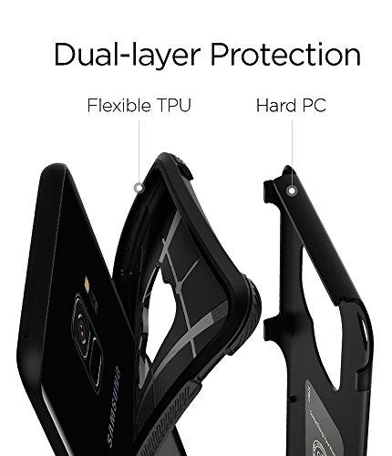 Spigen Funda Para Galaxy S9, Hybrid Armor, con Air Cushion Estuche Para Samsung Galaxy S9 - Negro - VendeTodito