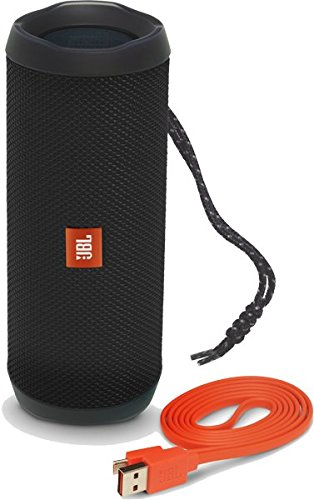 JBL JBLFLIP4BLKAM Bocina Flip 4, Portátil Bluetooth, color Negro - VendeTodito