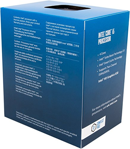 Intel BX80677I57400 Procesador Core i5-7400, 3.00 GHz /3.50 GHz Turbo, 4 núcleos, 4 hilos, Caché 6 MB L3, socket LGA1151, 14nm, 65 W - VendeTodito