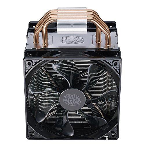 Cooler Master Hyper 212 LED Turbo- Negro Cubierta Superior está equipado con doble 120mm PWM Ventiladores LED Rojos Disipador de CPU - VendeTodito