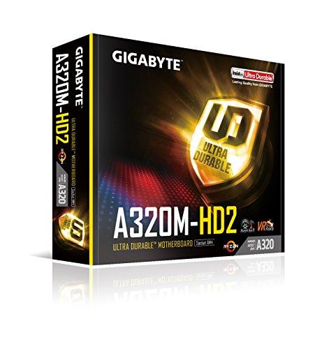 Gigabyte GA-A320M-HD2 Tarjeta Madre AMD Ryzen AM4 A320 HDMI USB 3.1 Type-A Micro ATX DDR4 - VendeTodito
