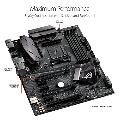ASUS ROG Strix B350-F Gaming Motherboard ATX, B350, AMD Ryzen AM4, DDR4, HDMI, DisplayPort, M.2, USB 3.1 - VendeTodito