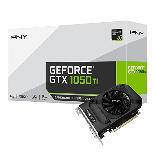 PNY GeForce GTX 1050 Ti 4GB GeForce GTX 1050 Ti 4GB GDDR5 - Tarjeta gráfica (GeForce GTX 1050 Ti, 4 GB, GDDR5, 128 Bit, 7680 x 4320 Pixeles, PCI Express x16 3.0) - VendeTodito
