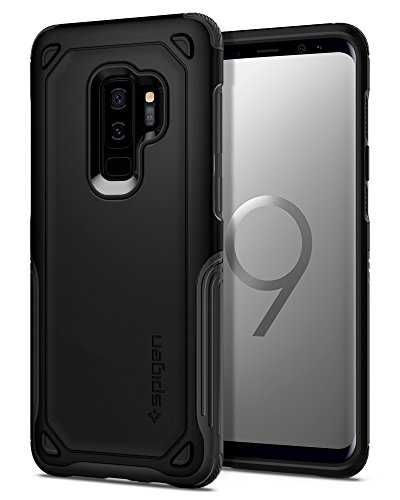 Spigen Funda Para Galaxy S9 Plus, Hybrid Armor, con Air Cushion Estuche Para Samsung Galaxy S9 Plus - Black - VendeTodito