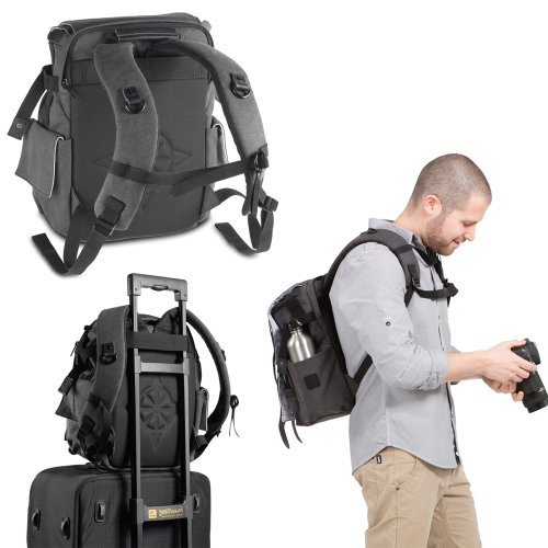 National Geographic NG W5051 Walkabout Small Rucksack for DSLR Style Camera with 12-Inch Laptop/Personal Gear (Gray) - VendeTodito