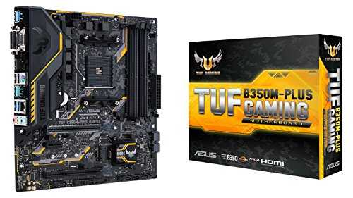 ASUS TUF B350M-PLUS GAMING Motherboard, MicroATX, AMD Ryzen AM4, Chipset B350, DDR4, HDMI, DVI, VGA, M.2, USB 3.1 - VendeTodito