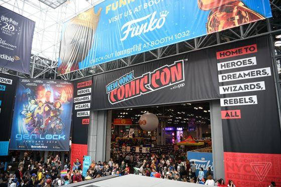 El piso principal de New York Comic-Con 2018 en el Centro de Convenciones Jacob K. Javits en la ciudad de Nueva York, del 4 al 7 de octubre de 2018.