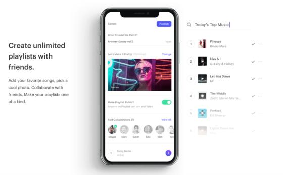 La aplicación de música social Playlist te permite escuchar música con otros en tiempo real