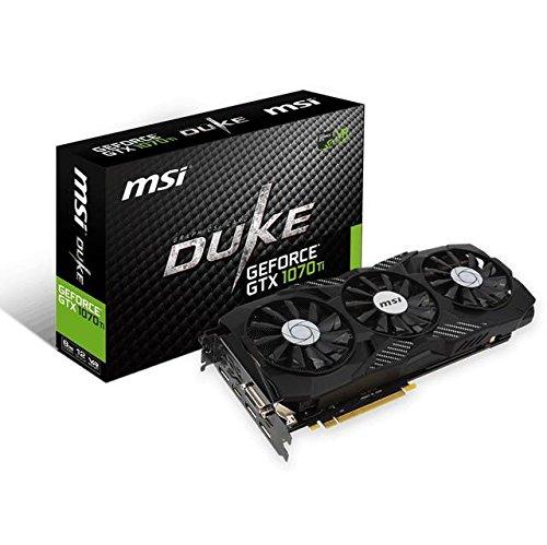 MSI GeForce GTX 1070 Ti Duke 8G GeForce GTX 1070 Ti 8GB GDDR5 - Tarjeta Gráfica (GeForce GTX 1070 Ti, 8 GB, GDDR5, 256 bit, 7680 x 4320 Pixeles, PCI Express x16 3.0) - VendeTodito
