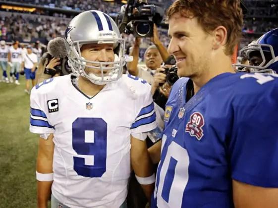 Eli Manning Tony Romo