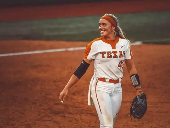 Mirand Elish #40 Pitcher Texas softball.