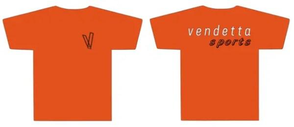 Vendetta Sports Small Bold V T-Shirt