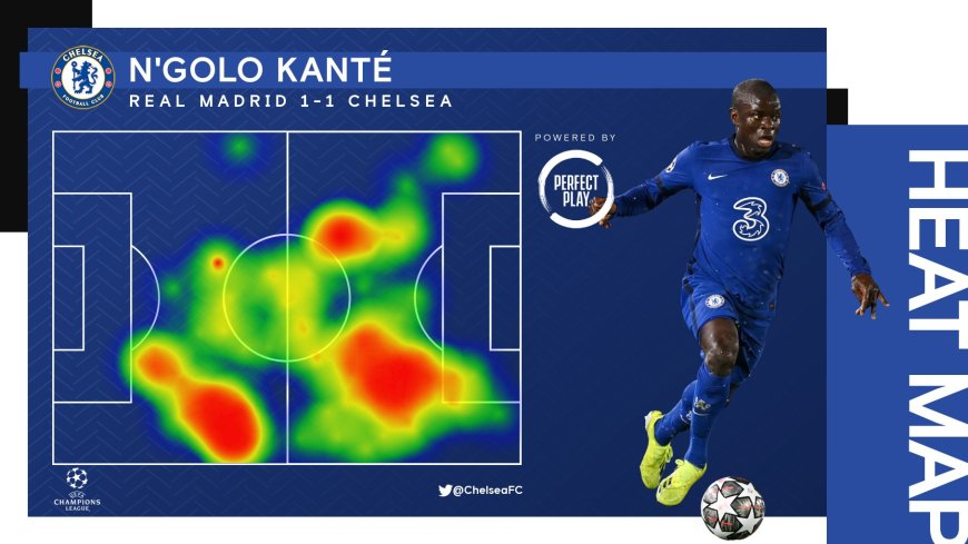 Kante Heat Map Real Madrid