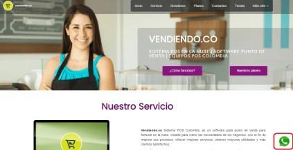 Contacto Whatsapp Vendiendo.co Sistema POS