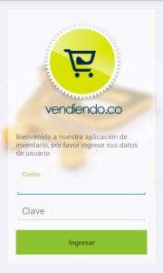 Login APP MOVIL Vendiendo.co