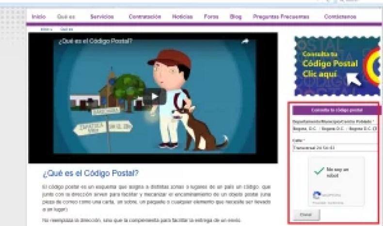 CONSULTA DE CODIGOS POSTALES