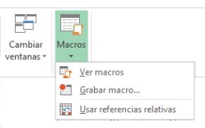 Menú Grabar Macro Excel