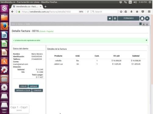 Vendiendo.co tu Software POS en linux