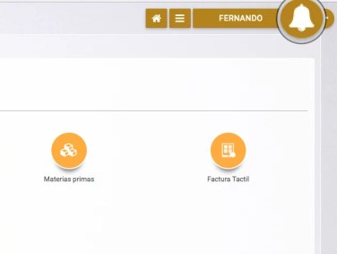 Botón de notificaciones en Vendiendo.co