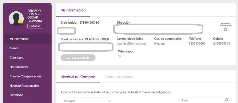 Información del distribuidor independiente Zona de empresarios Omnilife