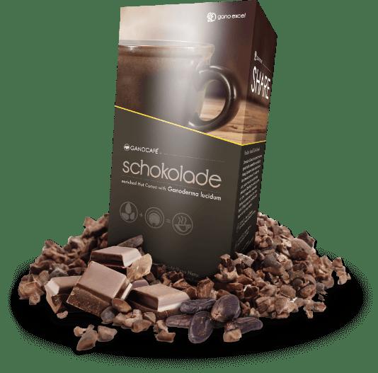 Ganocafe Schokolade productos gano excel usa