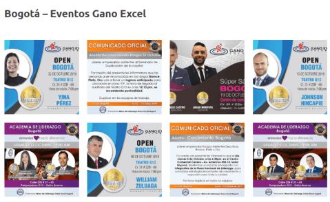 Eventos Gano Excel Colombia