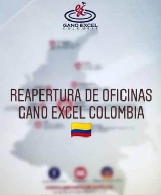 Reapertura Oficinas Gano Excel Colombia