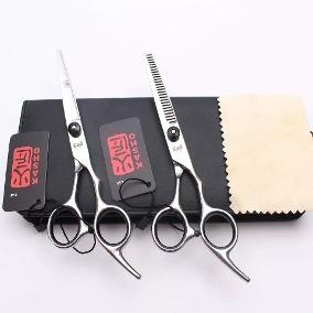 Tesoura Cabelo Corte e Desfiadeira para Cabeleireiro Barbeiro