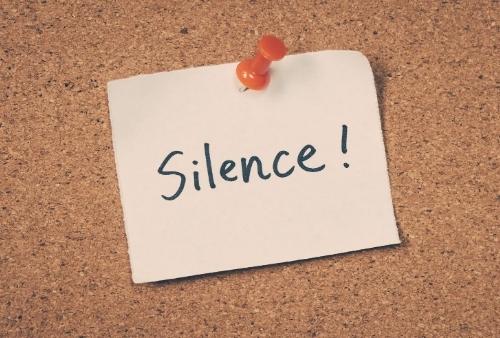 Silence pour négocier une vente
