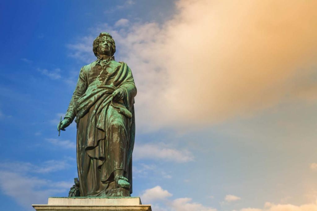 Espace libre à droite de la statue de Mozart àSalzburg, Autriche | Vendre ses photos en ligne