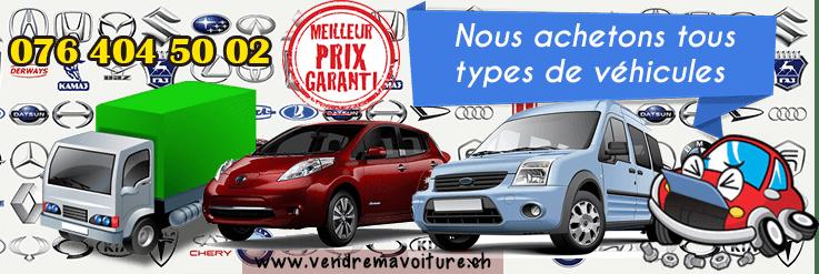 Achat de tous types et marques de véhicules