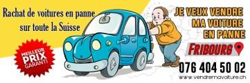 Rachat de voiture en panne pour l'exportation à Fribourg