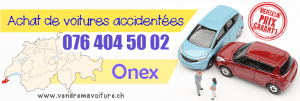 Vendre sa voiture accidentée à Onex