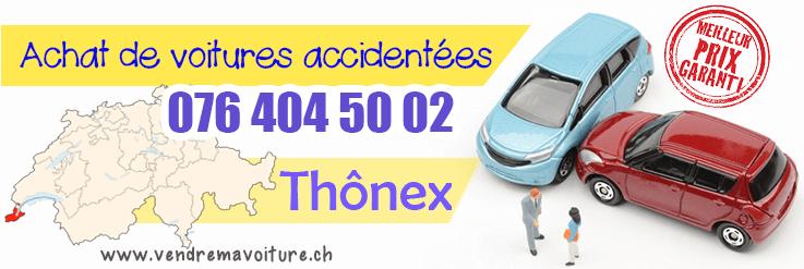 Vendre sa voiture accidentée à Thônex
