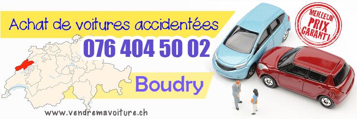 Vendre sa voiture accidentée à Boudry
