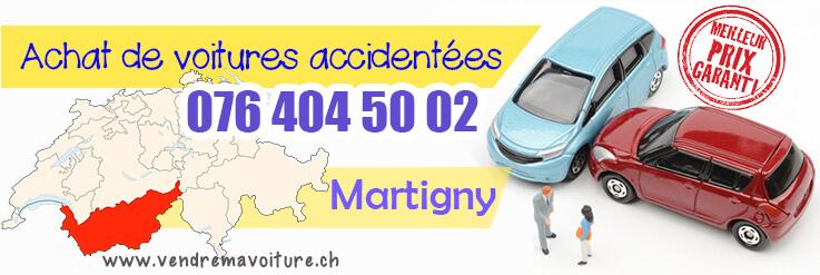 Vendre sa voiture accidentée Martigny