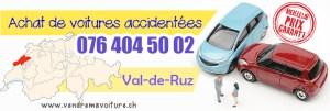 Vendre sa voiture accidentée à Val-de-Ruz