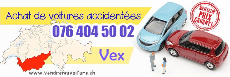 Vendre sa voiture accidentée à Vex