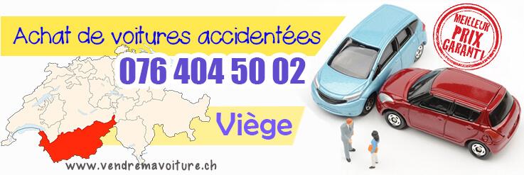 Vendre sa voiture accidentée à Viège