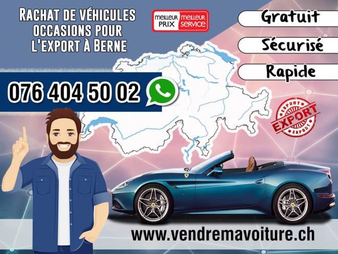 Rachat de véhicules occasions pour l'export à Berne