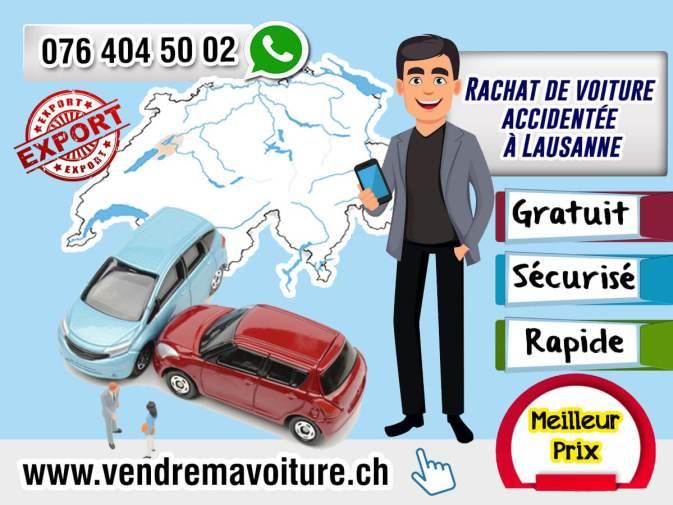 Rachat de voiture accidentée à Lausanne