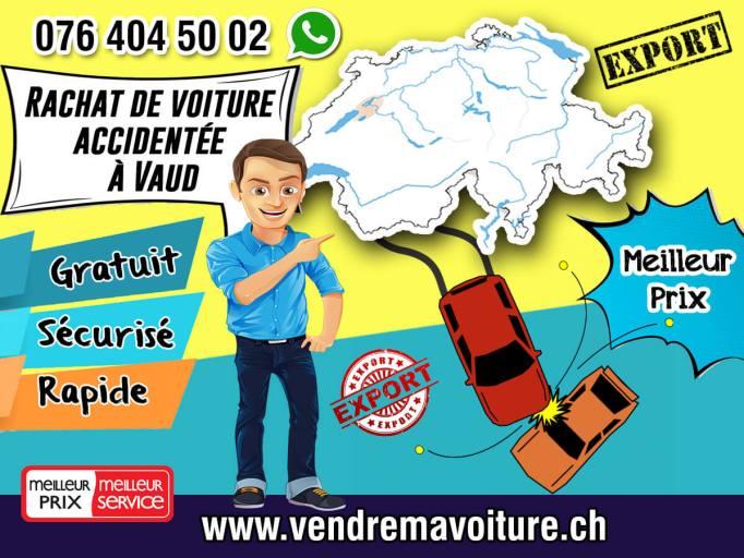 Rachat de voiture accidentée à Vaud