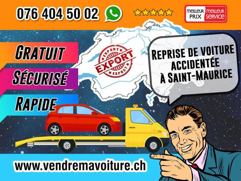 Reprise de voiture accidentée à Saint-Maurice