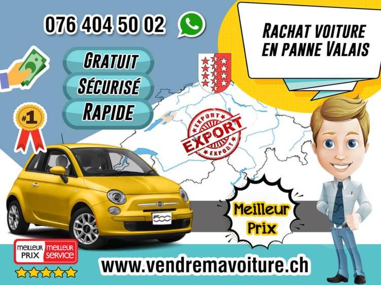 Rachat voiture en panne à Valais