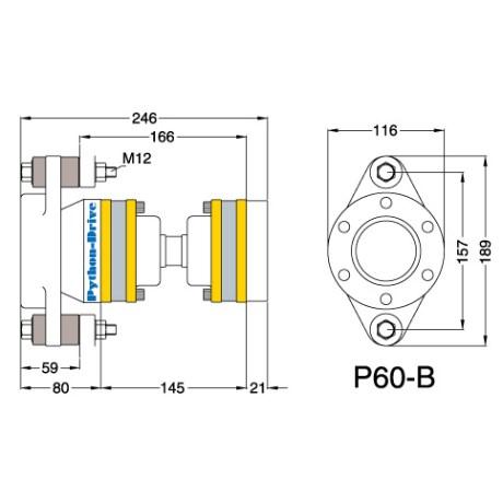 P60-B - Python-Drive -nivelyksikkö
