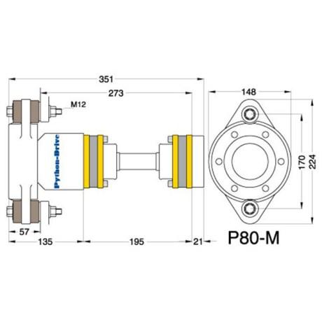P80-M_mitat P80-M - Python-Drive -nivelyksikkö