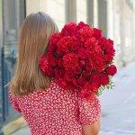 Carnation And Rose Red 30 Flower, Venera Flowers, online flower delivery dubai
