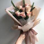 Rose Peach 7 Flower Bouquet, Venera Flowers, online flower delivery dubai