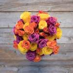 Rose Purple Orange And Yellow 30 Flower, Venera Flowers, online flower delivery dubai