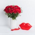 Rose Red White Vase 20 Flower, Venera Flowers, online flower delivery dubai